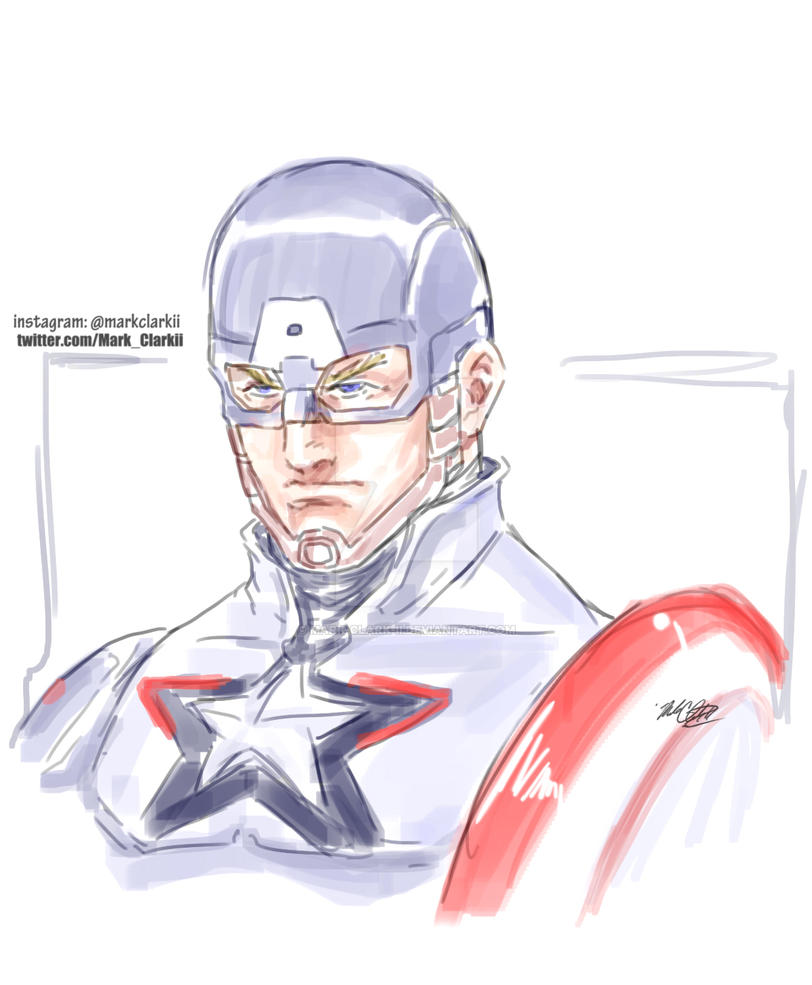 Captain America by Mark-Clark-II