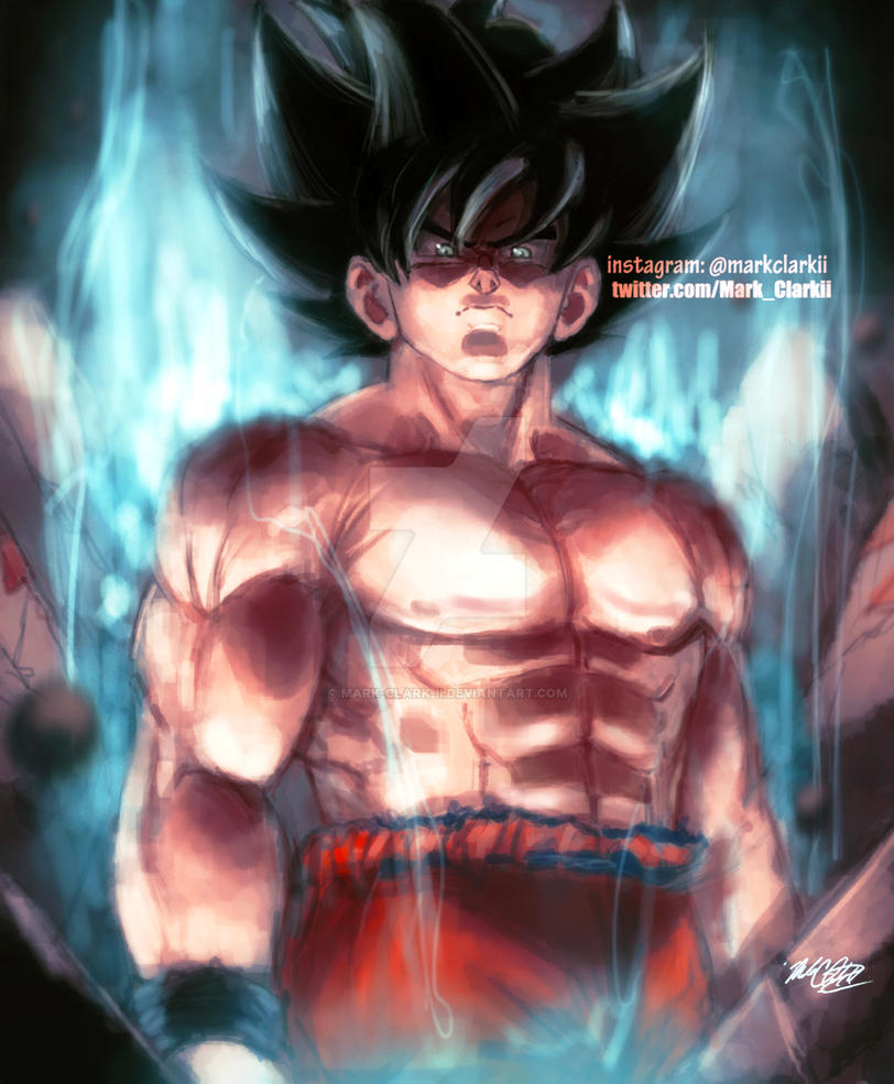 Ultra Instinct Goku by Mark-Clark-II