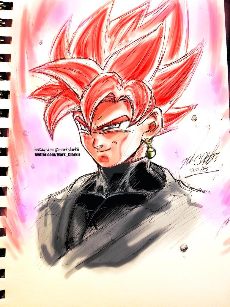 Goku black rose plus sketch video by Mark-Clark-II