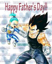 Dbz fathersday-Vegeta and Bra (bulla in the dub)