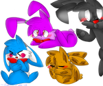 The bunnies in FNaF