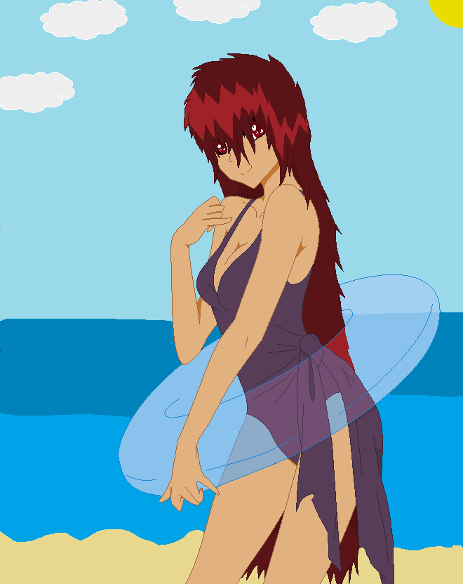 Sectonia Is Wearing A Swimsuit