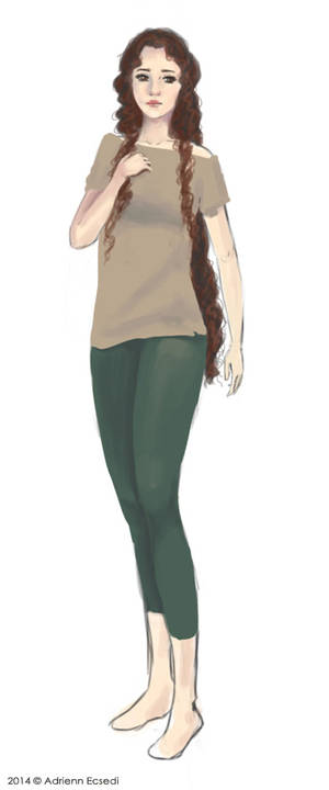 Kria full body character sketch
