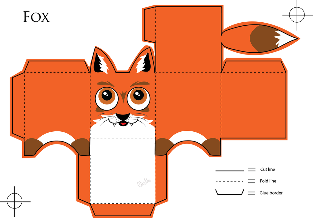 Fox Paper Craft By Veavictis On Deviantart