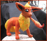 Flareon Sculpture by HollieBollie