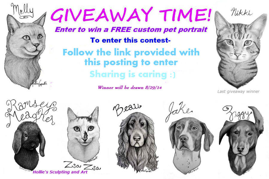 FACEBOOK pet portrait giveaway #2 by HollieBollie