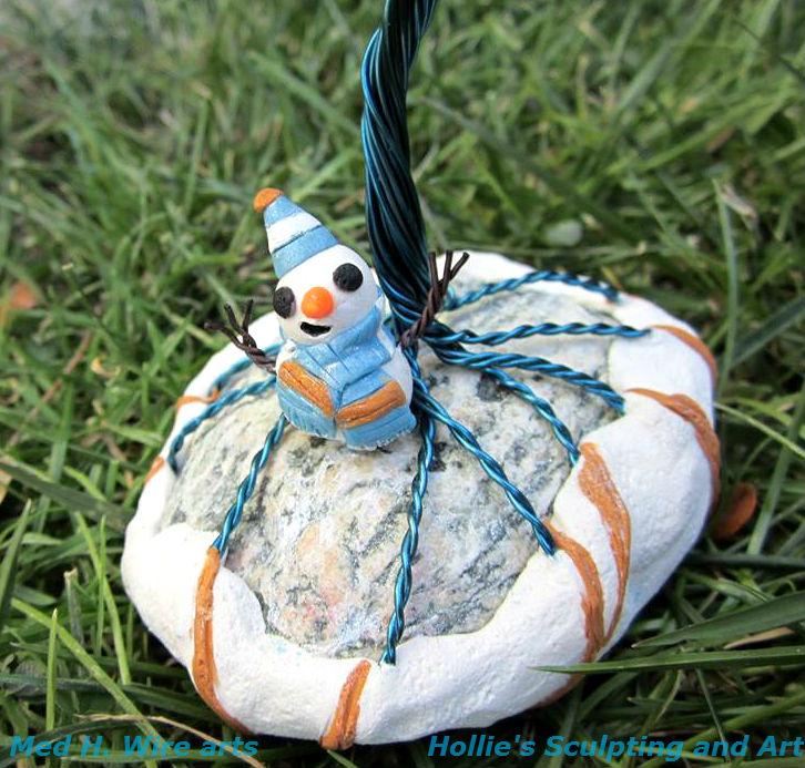 Winter Wonderland  snowman close up by HollieBollie