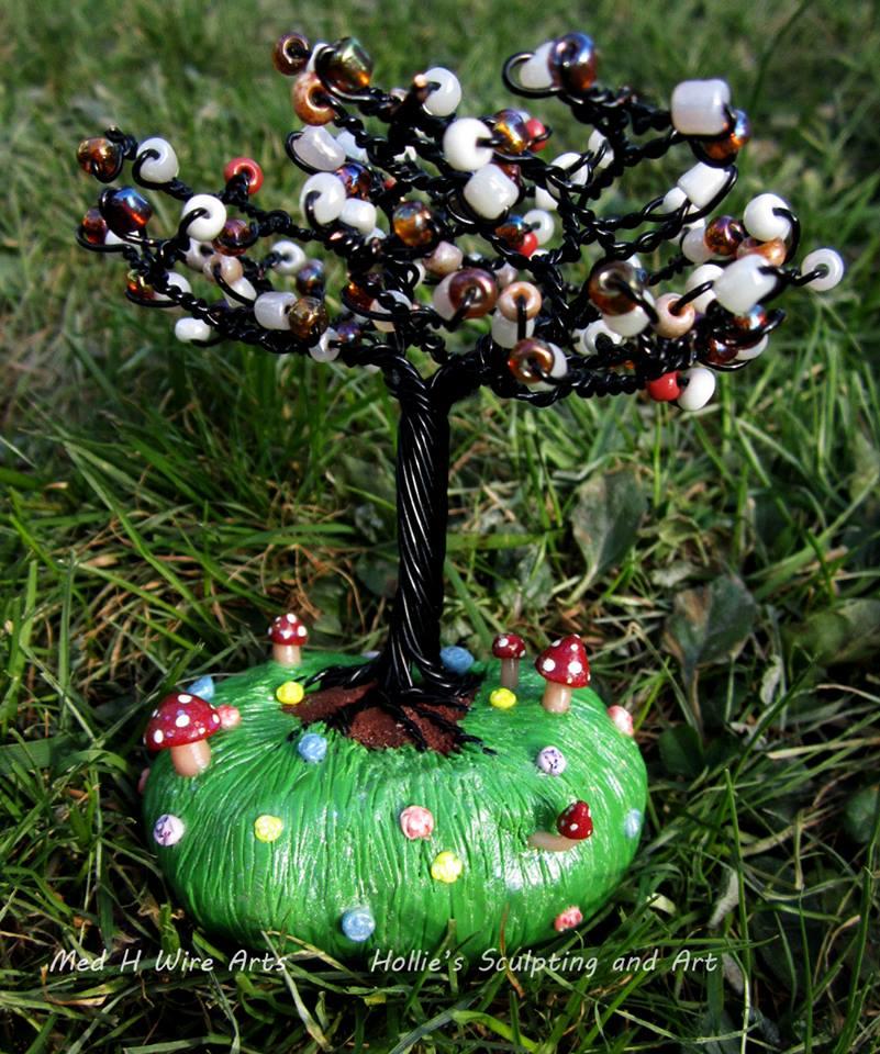 Magical Mushroom Garden Tree by HollieBollie