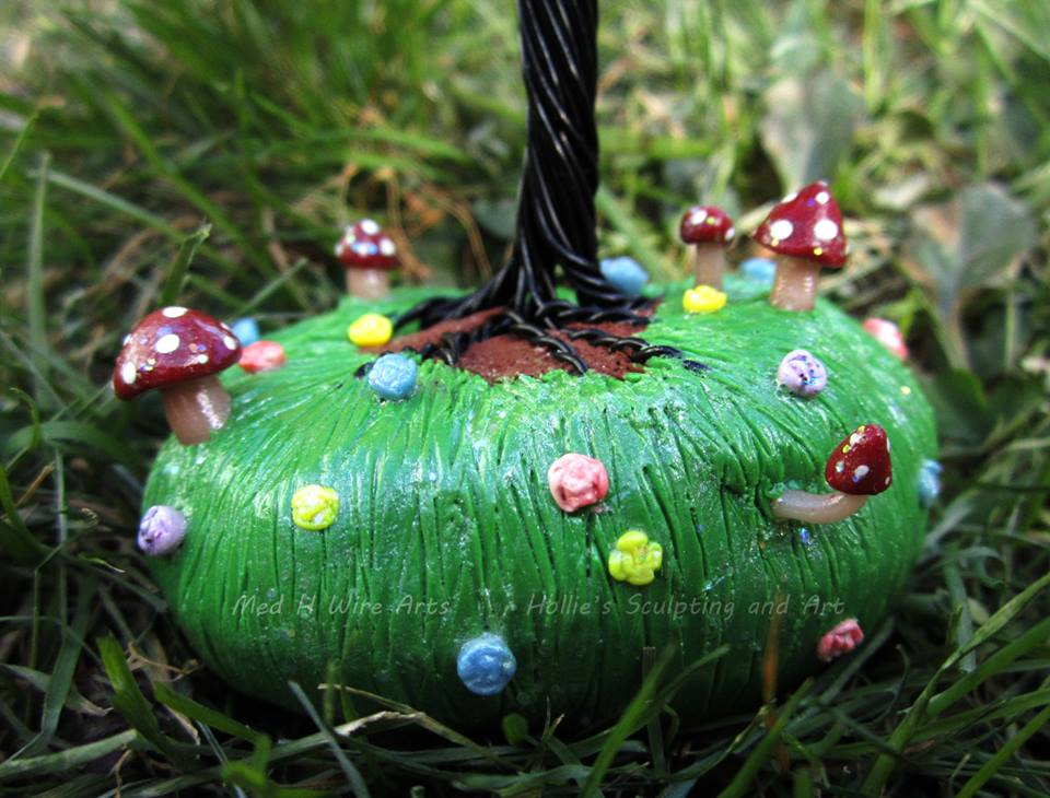 Magical Mushroom Garden Tree close up by HollieBollie