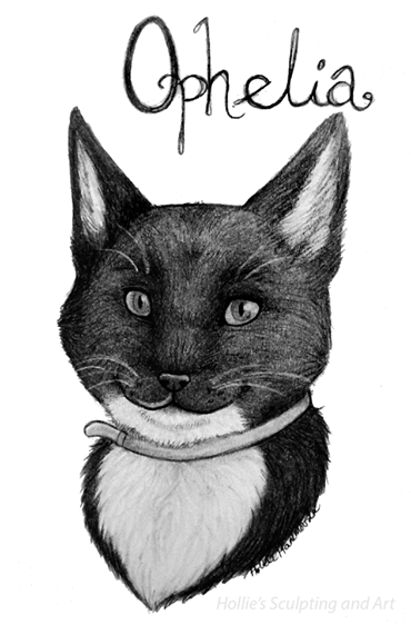 Ophelia cat portrait by HollieBollie