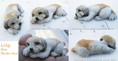 Lily shih-tzu sculpture alt views by HollieBollie