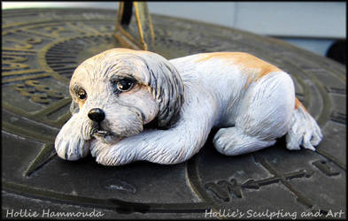 Lily shih-tzu sculpture by HollieBollie