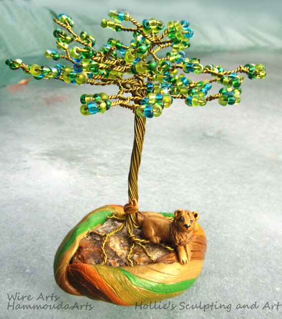 Lion tree of life sculpture by HollieBollie