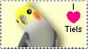I love tiels stamp by HollieBollie