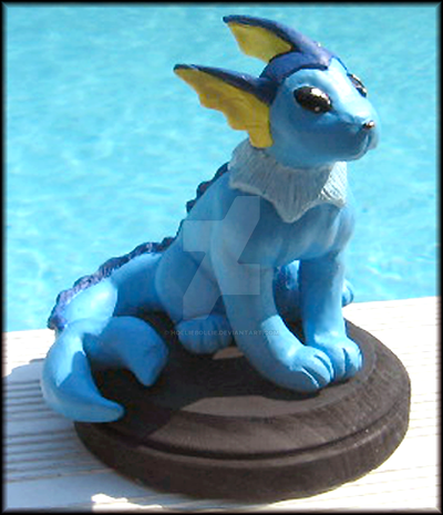 Vaporeon Sculpture by HollieBollie