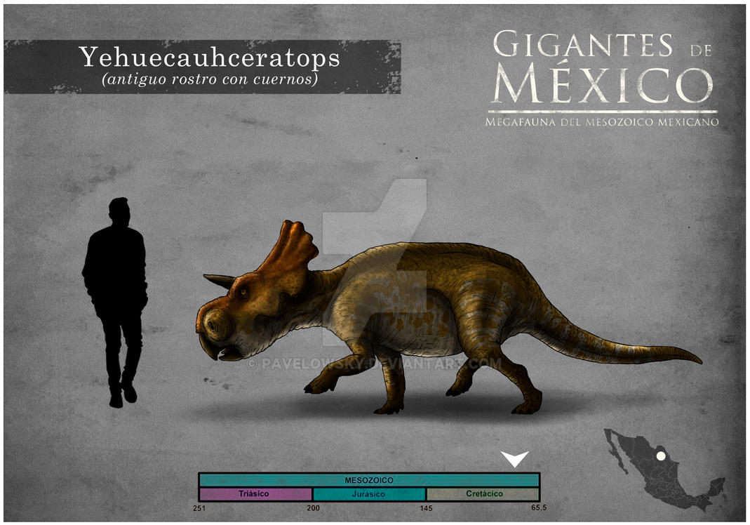 Yehuecauhceratops by PAVELOWSKY