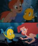 Ariel meets Flounder