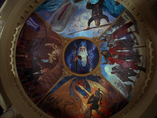 The pagemaster rotunda by joshuaorro on deviantart Rules for painting ceilings