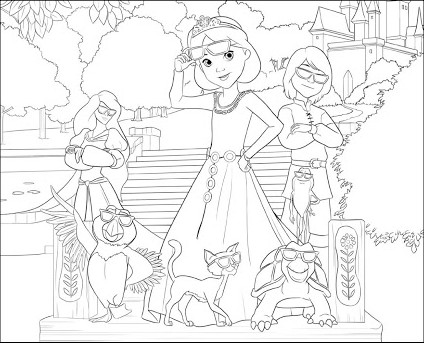 Swan Princess Royally Undercover Coloring Page 2 By Joshuaorro On