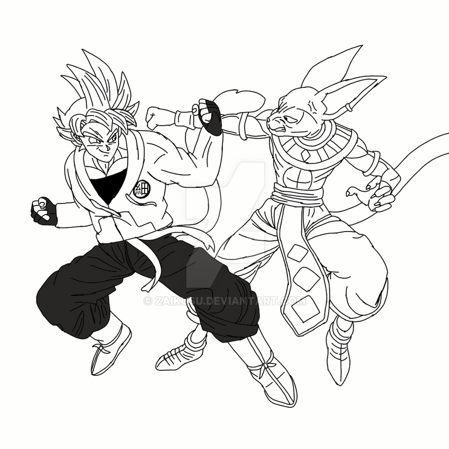 Draw Zaikusu Vs Beerus By Zaikusu On Deviantart