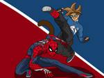Zaikusu and Spiderman by Zaikusu