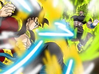 Zaikonis SSJ4 vs Yasai SSJ Berserk by Zaikusu
