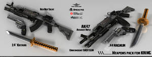 Weapon pack for Carine 'Kring' Martin