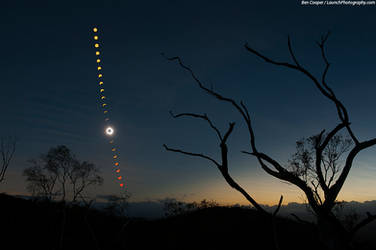 Moon Shadow Sequence / Total Solar Eclipse 2012 by ArtEssentIals