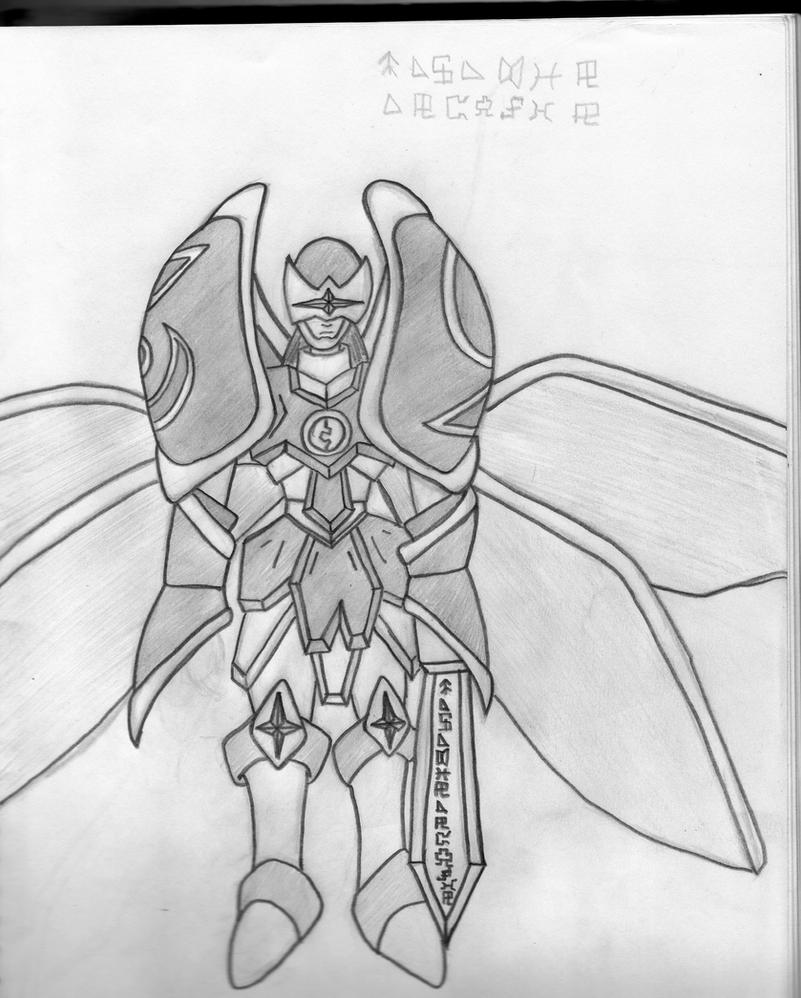 Paladin Angemon by ajfromcanada