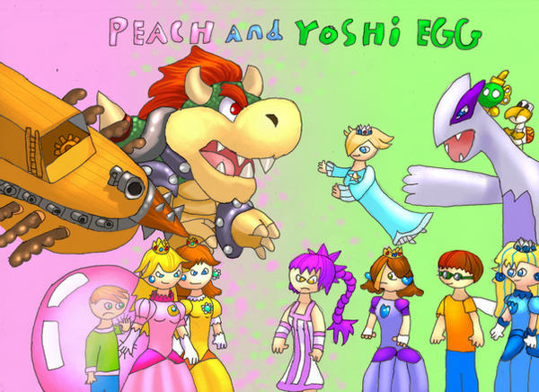 yoshi egg and peach title page