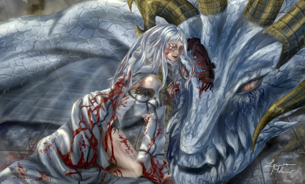 Resting Warrior by DoronaTenshi