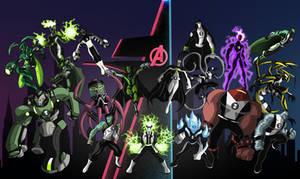 Ben 10 Artwork-Marvel Aliens