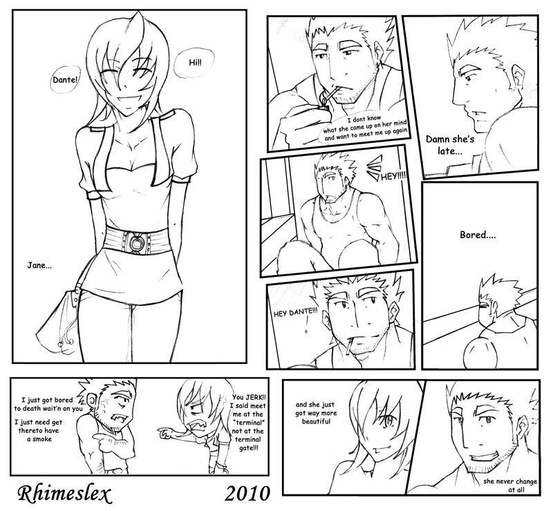 Manga Panel: Panel Test For My Manga By Rhimes1999