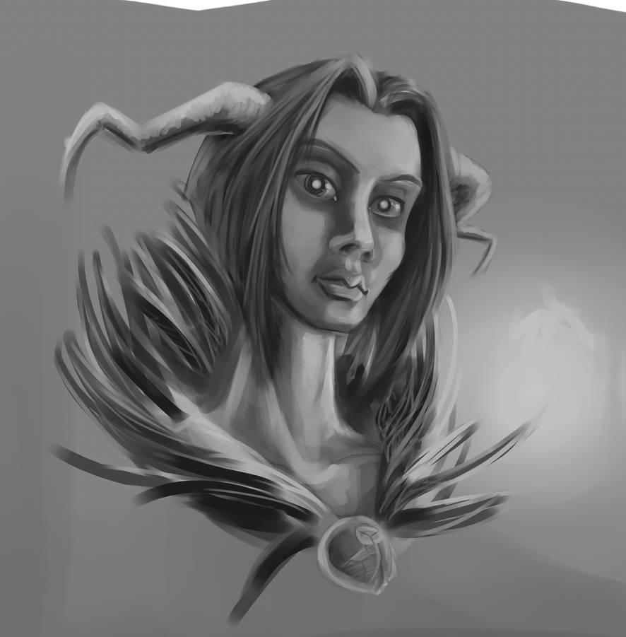 Training - speed - female demon by EvilPNMI