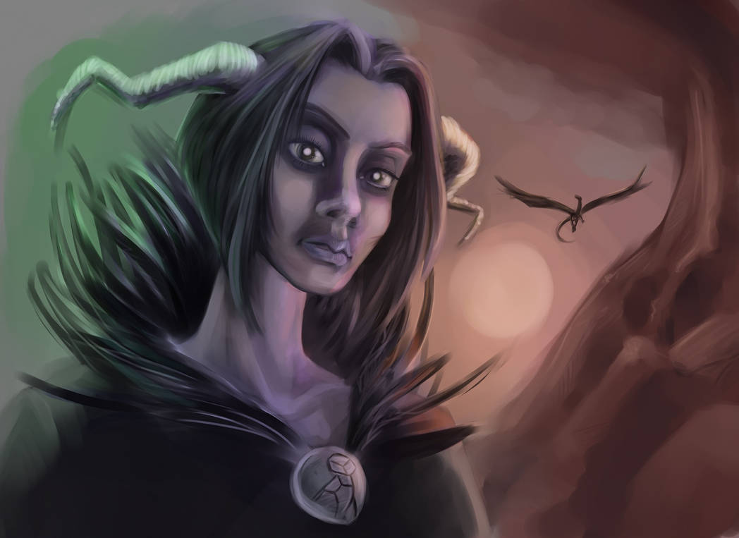 Female demon by EvilPNMI