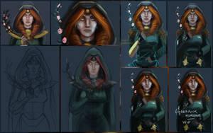 WIP - Morgane, cyberpunk version by EvilPNMI