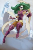 Shaina, Ophiucus - Saint Seiya fanart - WIP 2 by EvilPNMI