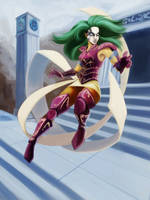 Shaina, Ophiucus - Saint Seiya fanart by EvilPNMI