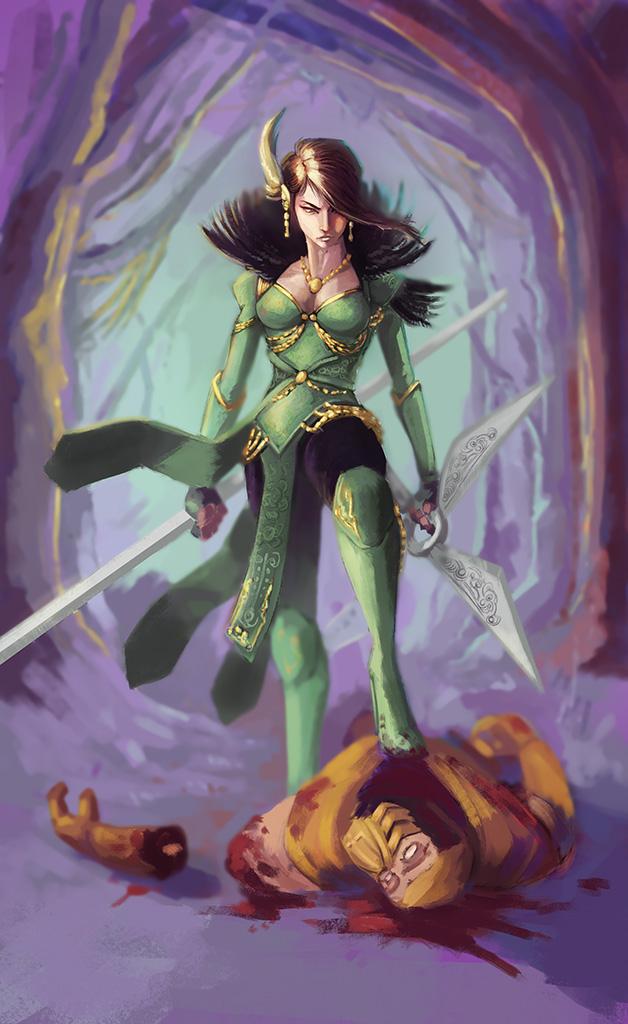 Mortal Kombat fanart - Jade by EvilPNMI