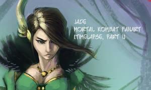 Mortal Kombat fanart - Jade - TIMELAPSES by EvilPNMI