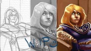 Work in progress - Age of Conan Fanart / POM by EvilPNMI