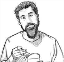Quick Sketch / Serj Tankian - Chop Suey by EvilPNMI
