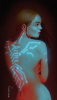 The girl with the neon tatoo by EvilPNMI