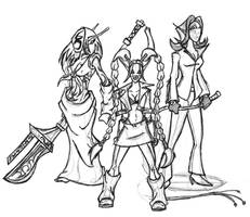 Harlequin trio by EvilPNMI