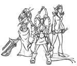 Harlequin trio