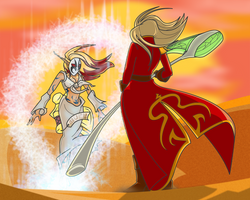 Demon vs Sorceress by EvilPNMI