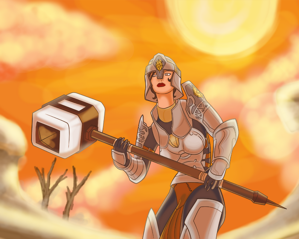 Selena - A warrior in Jahai by EvilPNMI