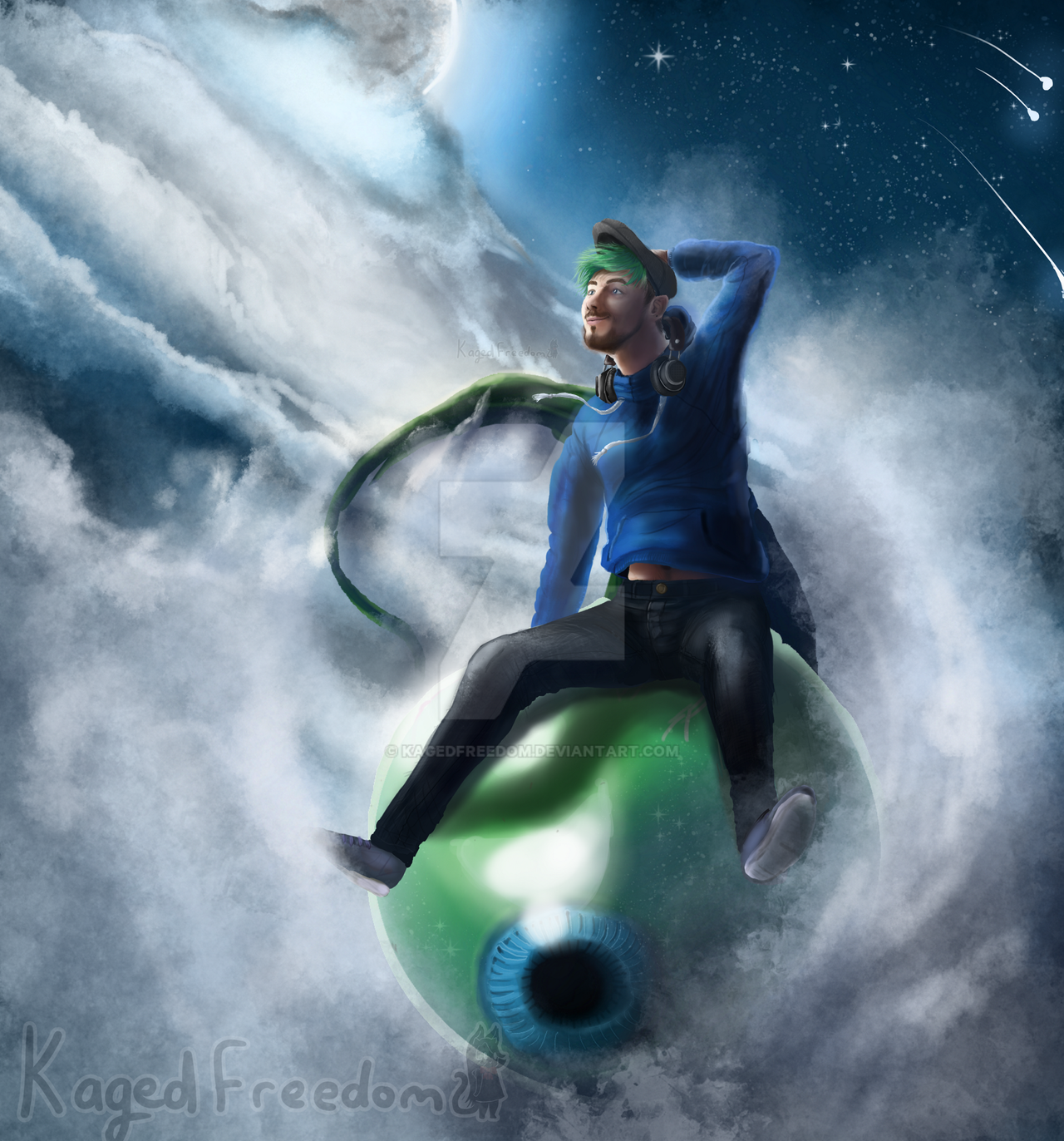 Joyride through the clouds. by KagedFreedom