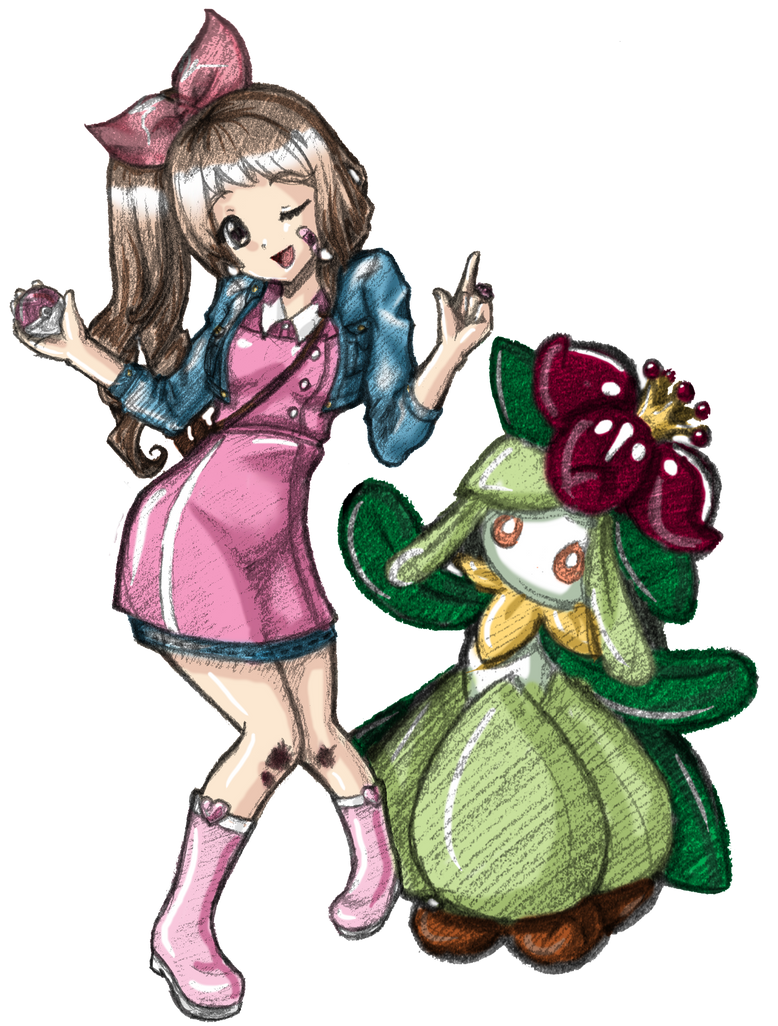 Commission Gaia Online: boup and Lilligant Colored by ADayIn
