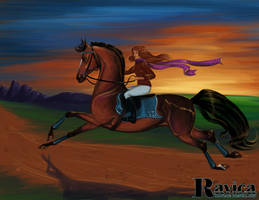 Sunset Springer by Ravica